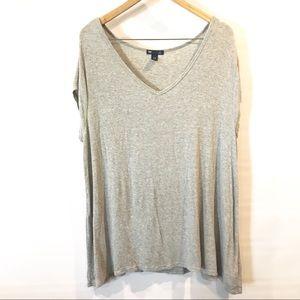 Gap | grey oversized tunic top plus sz XXL